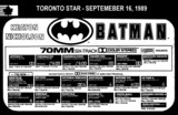 "AD FOR ""BATMAN 70MM"" - YORKDALE SIX THEATRE"