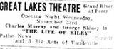 Small November 23rd, 1927 grand opening ad