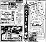 September 23rd grand opening ads for the Hollywood and Oriental theatres