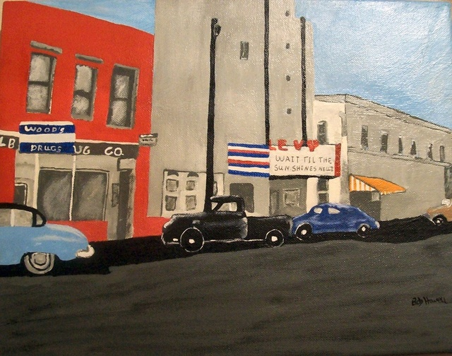 levy theatre painting by bob howell courtesy of gwen