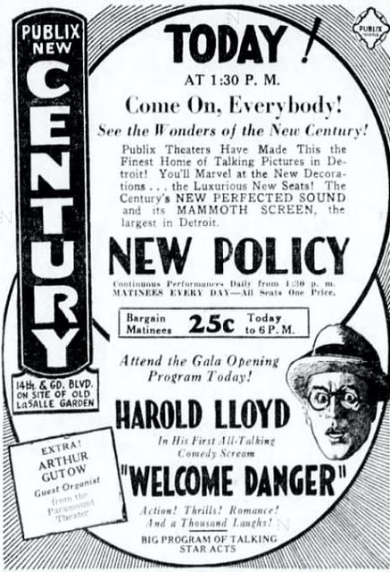 March 8th, 1930 grand opening ad