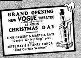December 24th, 1937 grand opening ad