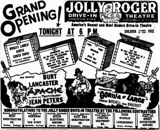 September 15th, 1954 grand opening ad