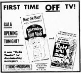August 1st, 1962 grand opening ad as Studio Midtown