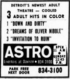 July 4th, 1969 grand opening ad as Astro