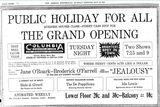 May 19th, 1914 grand opening ad as Columbia