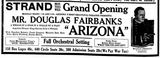 December 22nd, 1918 grand opening ad