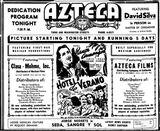 09 de octubre 1944 anuncio inauguración como Azteca