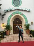 Actress Candy Clark at the Cinema Paradisio entrance. 11-14-15 photo credit Candy Clark.