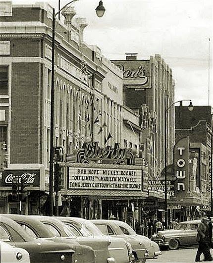 Town marquee. 1952 photo courtesy of the Distinctly Montana Facebook page.
