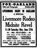 Fox Oakland - Livermore Rodeo Revel