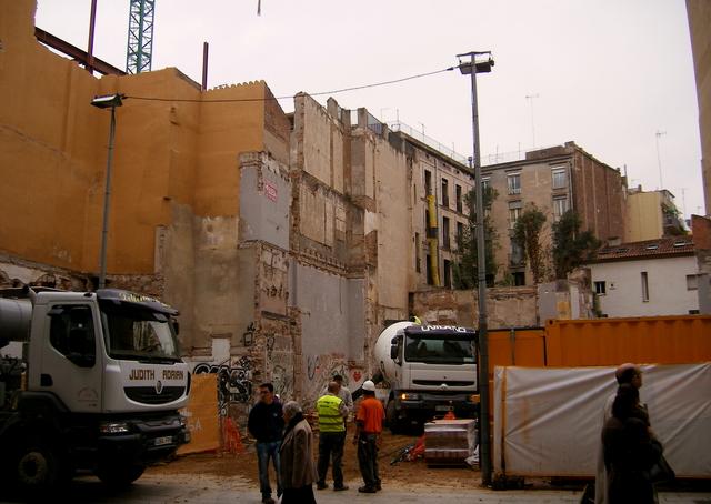 shortly after demolition