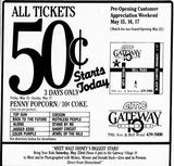 May 15th, 1987 grand opening ad