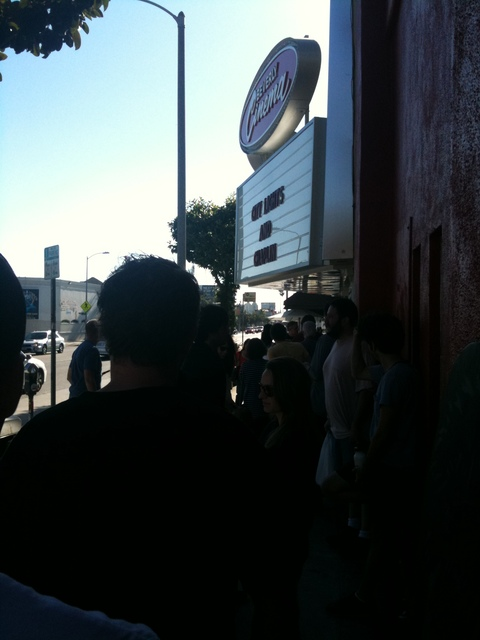 A line forms for City Lights at the New Beverly Cinema - 7-17-11