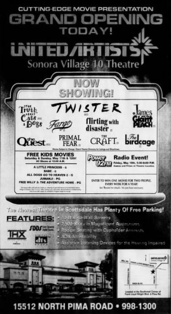 May 10th, 1996 grand opening ad