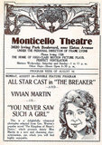 MONTICELLO Theatre; Chicago, Illinois.
