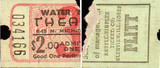 FRONT AND BACK OF TICKET STUB - WATER TOWER CINEMAS 3