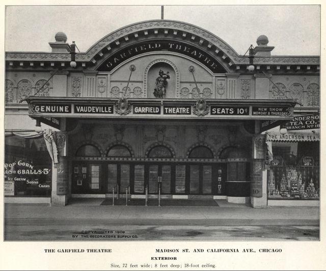 Garfield Theatre, Madison Street, Chicago 1909