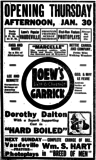 <p>Becomes Loew's Garrick in 1919</p>