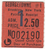 <p>Front of ticket for Saturday Night Fever – Feb 1978</p>