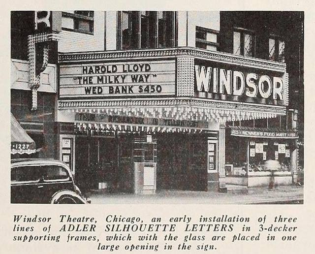 Alder Sign print ad, in Motion Picture Herald, January 8, 1938.