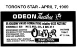 "AD FOR ""OLIVER"" - ODEON CARLTON THEATRE"