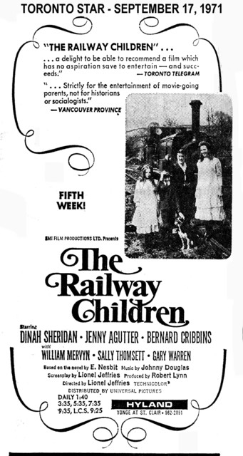 "AD FOR ""THE RAILWAY CHILDREN"" - ODEON HYLAND THEATRE"
