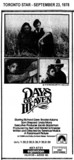 "AD FOR ""DAYS OF HEAVEN"" - EGLINTON THEATRE"