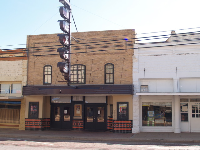 "Facade of the ""new"" Texas Theater, May 2015"