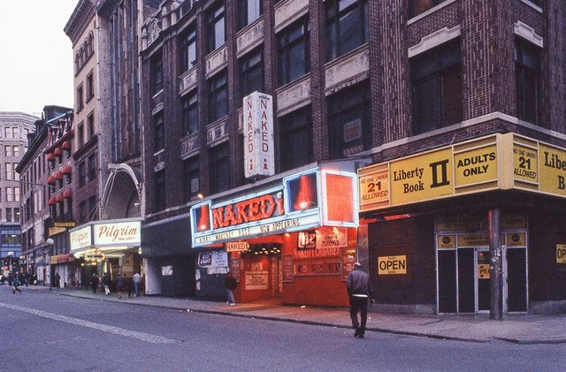 Circa 1985 photo courtesy of the Dirty Old Boston Facebook page.