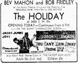 December 28th, 1956 grand opening ad as Holiday
