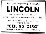 May 22nd, 1936 grand opening ad as Lincoln