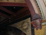 """[""""Detail of ceiling at proscenium arch""""]"""