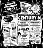March 21st, 1986 grand opening ad as Century 6