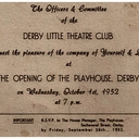 Derby Playhouse opening invite