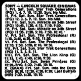 <p>Opening weekend schedule starting November 18th, 1994</p>