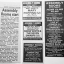 Derby Assembly Rooms film presentations press ads