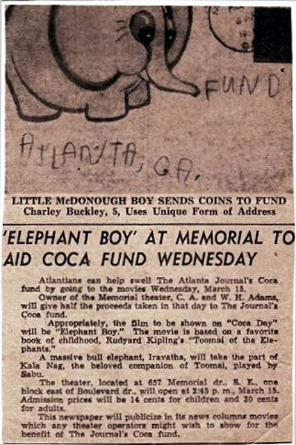 Atlanta Journal article March 1950