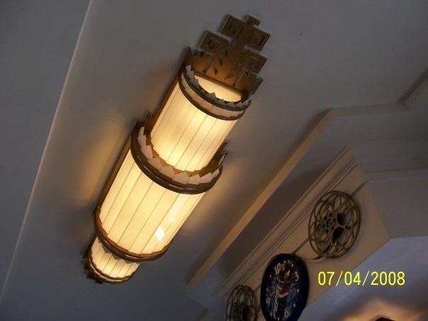 Original main lobby Art Deco light fixture