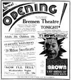 August 23rd, 1934 grand opening ad