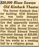 Kimbark Theater Fire, October 1960