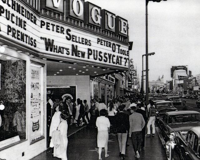 "Vogue Theatre ""What's New Pussycat""  (1965) engagement"