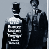 <p>Street marketing for the Warfield in support of Buster Keaton's latest circa 1923.</p>