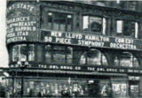 "<p>Nice 1923 shot of the Loew's State showing ""Uneasy Feet.""</p>"