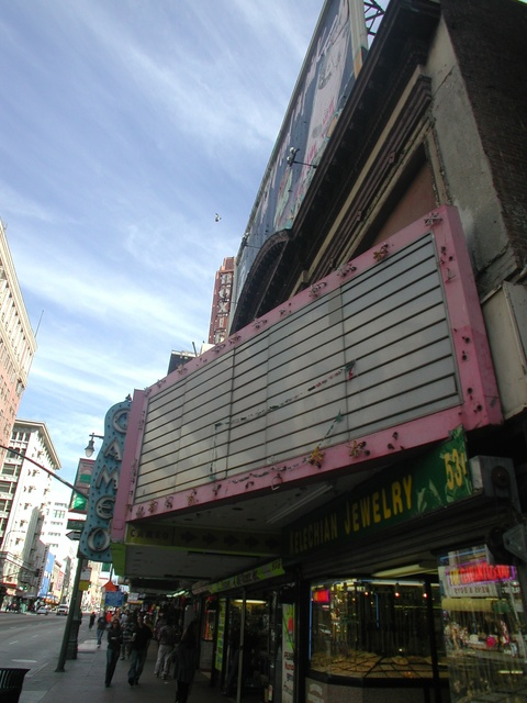 Cameo Theatre with Roxie Theatre sign