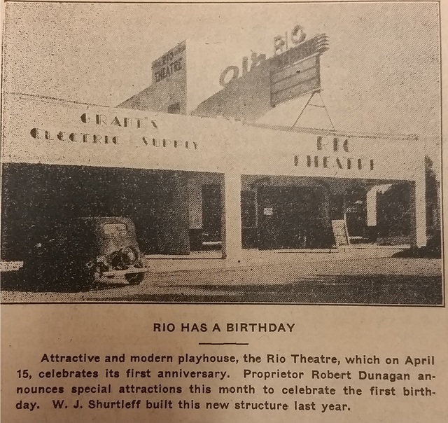 Rio Theatre First Anniversary