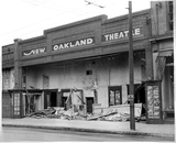 The New Oakland Theater, bombed April 30, 1934