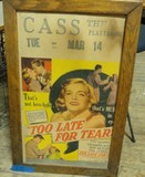 Cass Theater movie poster seen at Kansas City West Bottoms antique market 5/2012