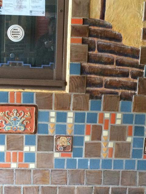 Detail of tile work (2 of 2)