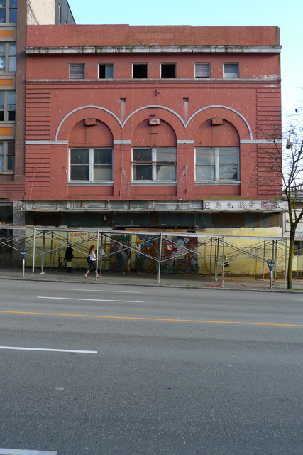 Vancouver's Pantages Theatre Facade, before demolition
